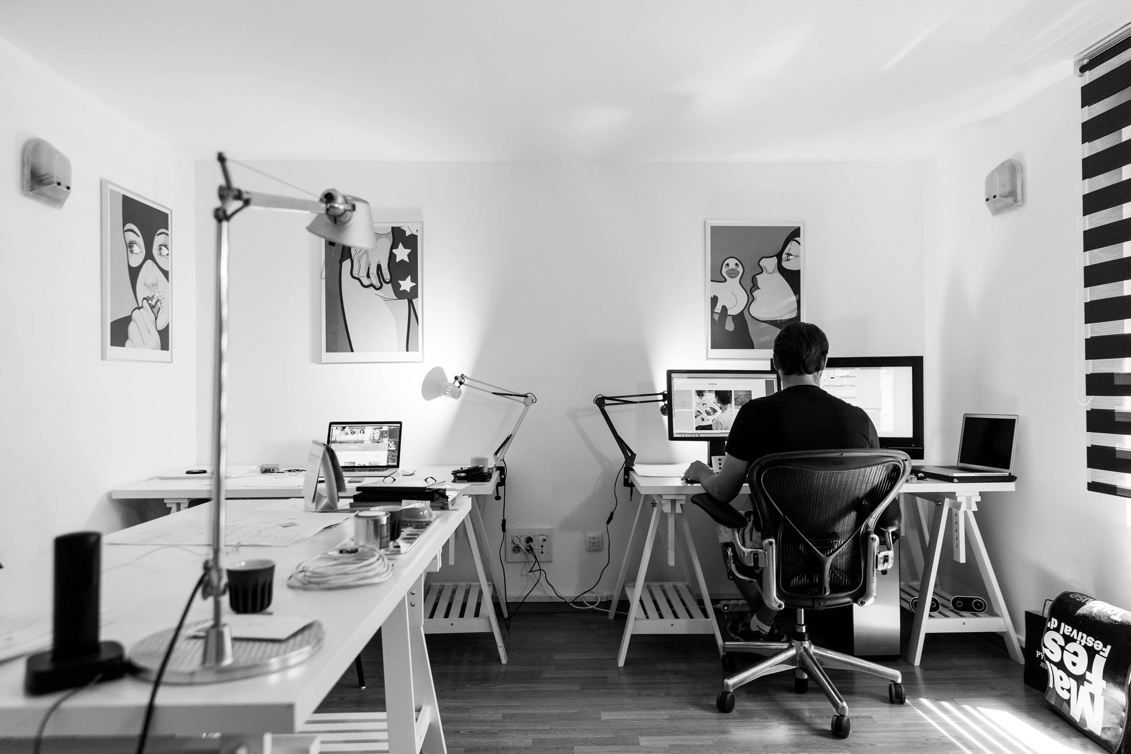 office work desk computer 81363